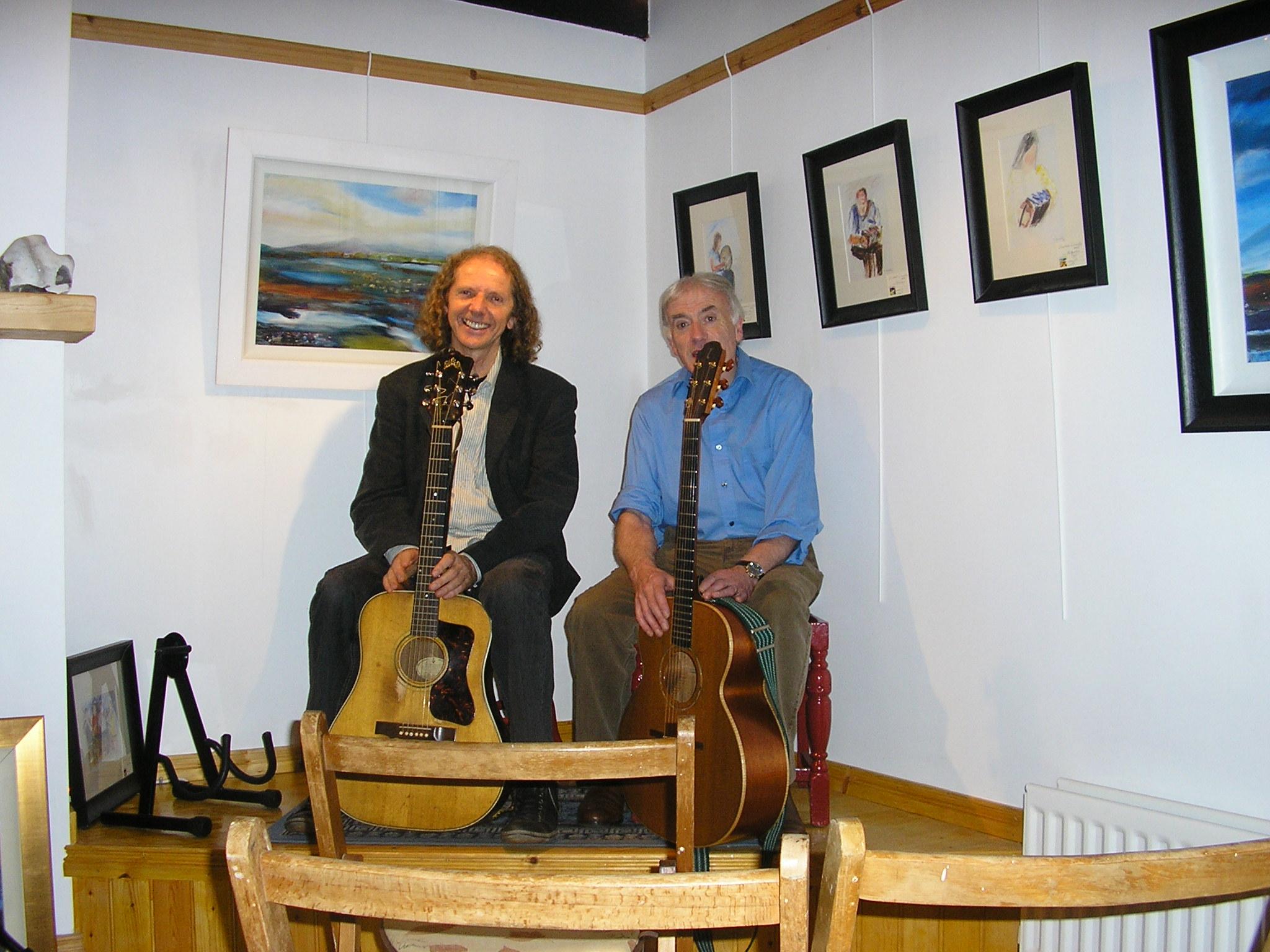 Seán Donnelly with Colum Sands