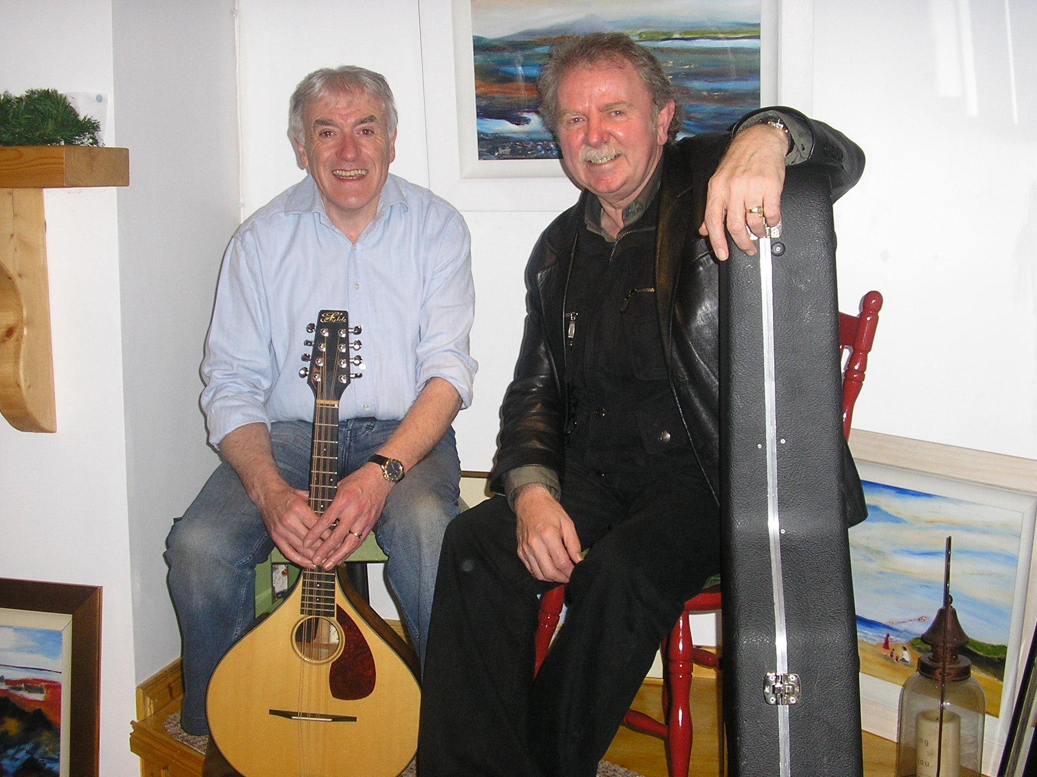 Seán Donnelly with Ben Sands