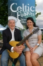 BBC radio presenter Lynette Fay and singer/songwriter Seán Donnelly at the launch of Celtic Fusion